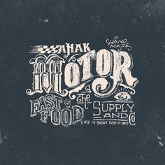 Anak motor the fast food supply and co. by @tegakbergaris