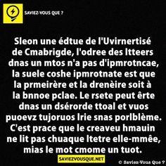Saviez Vous Que? | Category Archive | Saviez-vous que ? Science Facts, Fun Facts, Interesting Information, Positive And Negative, Fact Quotes, Entrepreneur Quotes, Did You Know, Affirmations, Knowledge