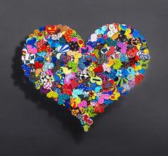 Look within your heart - 107 x 90 / 62 x 56 cm - Sculpture en métal 3D