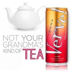 Not your grandmas kind of TEA-- Lets #ParTea! 40 mg of natural caffeine and only 45 calories, it's the insanely healthy energy tea you can enjoy year-round! #Vemma #Verve Join my downline!  #TEAMGPS #YPR