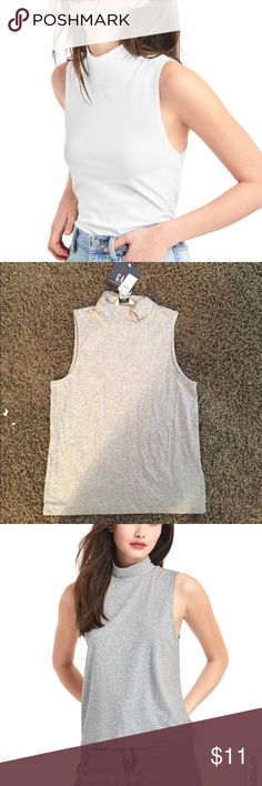 GAP mock neck New with tags never worn, gray color GAP Tops