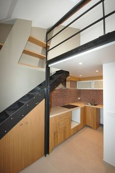 20 M2, Paris Arrondissement, Isolation, Studio, Small Spaces, Stairs, Loft, Architecture, Bed