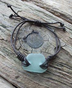 Scottish Sea Glass Surfers Bracelet Seaglass by byNaturesDesign, $10.00