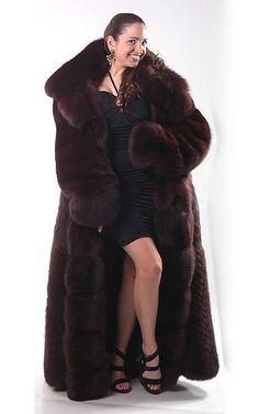 The Early Elsa Collection - Purple Dyed Fox - 3 Fur Fashion, Womens Fashion, Long Fur Coat, Fox Coat, Fox Fur, Furs, Brown, Sexy, How To Wear