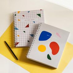 Spiral-bound, open-dated Daily Weekly Monthly Planner in colorful, geometric multi pattern. Squared Notebook, Weekly Monthly Planner, Simple Lines, Paper Size, Organization, Yearly, Spiral, Organize, Sketches