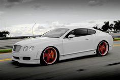 Lovin' the red wheels. #bentley