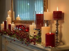 Image result for simple christmas mantle