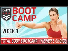 Total Body Bootcamp Fitness Plan: Week 1- Viewer's Choice - YouTube