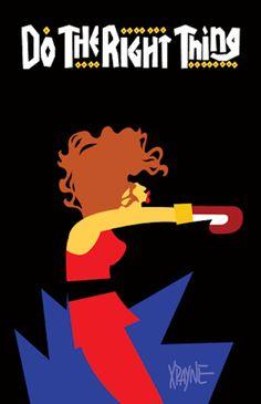 Illustrations of '90s Black Pop Culture
