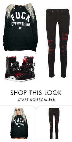 """""""mornin"""" by coffeeismysoul ❤ liked on Polyvore featuring Kill Brand, rag & bone and Converse"""