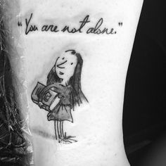 'Matilda' by Roald Dahl | 21 Tattoos That Show Off Some Impressive Literary Devotion | Bustle