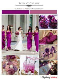 "We're excited to share our inspiration for the Patone color of the year! Patone describes Radiant Orchid as ""the harmony of fuchsia, purple and pink undertones."""