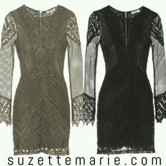 Lace and detailed dress
