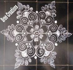 Simple Rangoli Border Designs, Indian Rangoli Designs, Rangoli Designs Latest, Rangoli Designs Flower, Rangoli Patterns, Free Hand Rangoli Design, Small Rangoli Design, Rangoli Designs With Dots, Beautiful Rangoli Designs