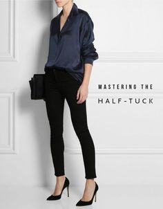 Image result for how to do a shirt tuck high waisted pants