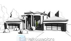 A 5 bedroom double storey house plan for sale. Find modern 5 bedroom house plans with 4 garages, 5 bedroom Tuscan house plans with photos and 6 Bedroom House Plans, 4 Bedroom House Designs, Garage House Plans, Tuscan House Plans, Modern House Floor Plans, House Plans For Sale, House Plans With Photos, Double Storey House Plans, Double House