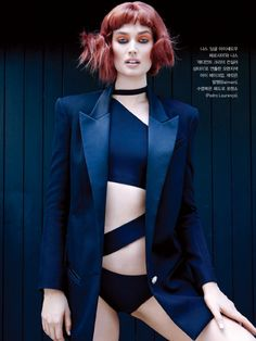 Toni Garrn & Ji Young Kwak by Francois Nars for Vogue Korea July 2013 2
