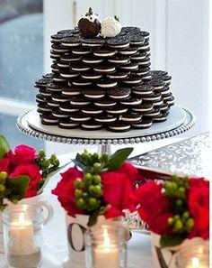 Oreo Wedding Cake~for my better half Oreo Cupcakes, Oreo Cake, Oreo Cookies, Oreo Wedding Cake, Wedding Cupcakes, National Oreo Day, Wedding Cake Alternatives, Cakes For Men, Dessert Buffet