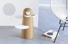 BOBO – SIDE TABLE  Mesa auxiliar practica, con un carácter distinto y divertido. Diseño inspirado en el árbol Africano Baobab.
