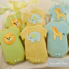 Onesie sugar cookies- so cute we could eat them all up!