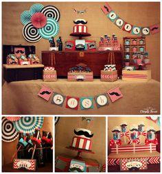 Mustache Party, Invitations, Banner, Little Man Birthday Little Man Party, Little Man Birthday, Baby 1st Birthday, 1st Boy Birthday, 1st Birthday Parties, Birthday Table, Birthday Ideas, Moustache Party, Mustache Birthday