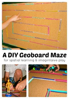 A DIY Geoboard for Spatial Learning and Play from Fun-A-Day! at B-InspiredMama.com