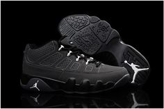 reputable site 56462 51a3b Air Jordan 9 Low Black Grey Discount Nike Shoes, Buy Nike Shoes, Nike Shoes