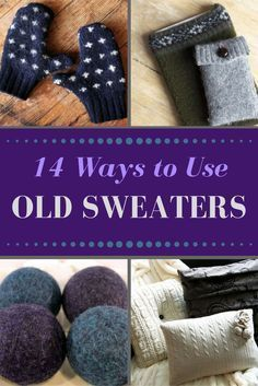 Before sending a bag of old sweaters to the thrift store, try repurposing them in creative new ways with one of these easy DIY crafts. Before sending a bag of old sweaters to the thrift store, try repurposing them in creative new ways. Upcycled Crafts, Easy Diy Crafts, Creative Crafts, Crafts To Sell, Sewing Crafts, Simple Crafts, Sell Diy, Decor Crafts, Home Crafts