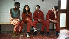 Behind the scenes of Misfits Series 4: Curtis and Rudy welcome Jess and Finn to the gang.