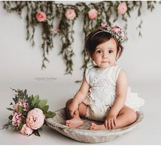 Girl Rompers Boho Romper Bohemian Clothing Baby Romper Girl Romper Boho Baby Cake Smash Romper Linen Baby Clothes Linen Romper Lace Romper - 1 year old - 1st Birthday Photoshoot, 1st Birthday Girls, Birthday Parties, Baby Cake Smash, Baby Cakes, Cake Smash Outfit Girl, Smash Cakes, Cake Smash Photos, Easter Pictures