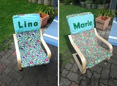 Genäht von Andrea » mit Vornamen Outdoor Chairs, Outdoor Furniture, Outdoor Decor, Coco, Diy And Crafts, Baby, Hacks, Home Decor, Fabrics
