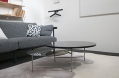 X-Ray sofa by Alain Gilles, Zorro table by Note Design Studio, Valet Jeeves by Tolilla&Gililand, Ruh Anemone by François Dumas for La Chance - photo by Joséphine Aury - www. Note Design Studio, Notes Design, Furnitures, Objects, Sofa, Table, Home Decor, Home, Settee