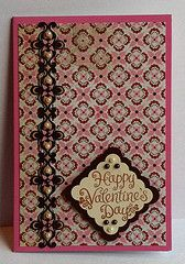 Brown & pink Valentine card