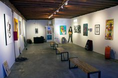The West Adams space is a wonderful studio and gallery perfect for art shows, workshops and classes.