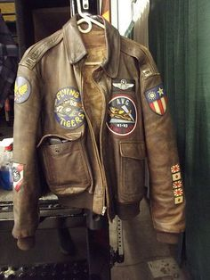 China Burma India Flying Tigers A-2 jacket. Perfect for autumnal adventures.