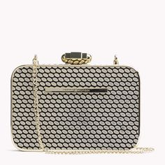 Tommy Hilfiger Dot Pattern Box Clutch - natural / black - Tommy Hilfiger Clutch Bags