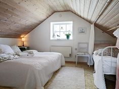 low ceiling attic bedroom ideas angled ceiling attic renovation plans tiny attic bathroom ideas for slanted Attic Master Bedroom, Attic Bedroom Designs, Attic Design, Bedroom Loft, Upstairs Bedroom, Interior Design, Design Bedroom, Master Suite, Sloped Ceiling Bedroom
