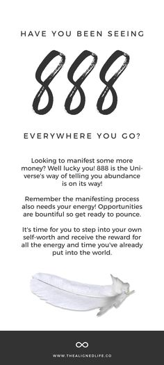 Numerology 888 Meaning: Secrets Of Angel Number 888 - Numerology Secrets Angel Number Meanings, Angel Numbers, 888 Meaning, Spirit Signs, Angels Among Us, Everywhere You Go, How To Manifest, Law Of Attraction, Meant To Be