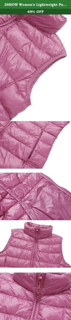 ZSHOW Women's Lightweight Packable Down Vest Candy Color Outwear Puffer Down Jackets,US X-Small/Asian M,Rose Red. ZSHOW Ultra-light Packable Down Quilted Jacket, provide you warm apparel products in cold winter, fashionable and comfortable. Lightweight - Minimal weight, superb compressibility and high loft warmth. Great for traveling , easy to pack away and ideal for active use. Easy Folding - This down packable coats is great for a range of activities and easily folds into a detachable...