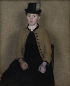 Vilhelm Hammershøi - Ida Ilsted (Vilhelm's Fiancee)