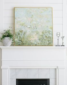 With collected composition, our Sleepy Forest mixes cool and warm tones with ease, creating a naturally calm presence wherever it's placed. Diy Wall Art, Diy Art, Wall Art Decor, Abstract Wall Art, Canvas Wall Art, Warm And Cool Colors, Painting Techniques, Landscape Art, Decoration