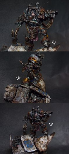 40k - Perturabo, Primarch of the Iron Warriors by WarmasterPainting