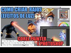 ▶ Como criar efeitos de poder/magia/luz no Photoshop (e corel painter - YouTube