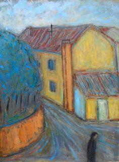 "Saatchi Online Artist Massimiliano Ligabue; Painting, ""Vicolo"" #art"
