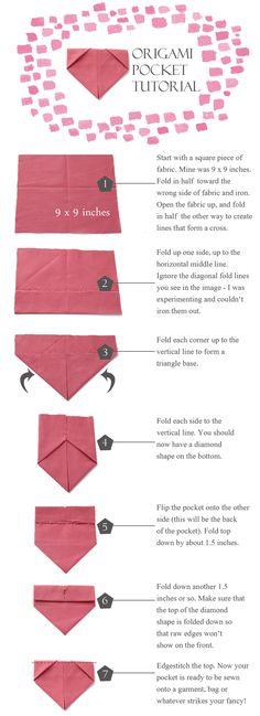 origami pocket tutorial sanae ishida love love love
