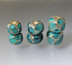 Set of 2 indigo blue bead pairs for earrings Set of 4 peacock blue round beads Dark blue glass beads RTS Handmade Lampwork beads OOAK sra