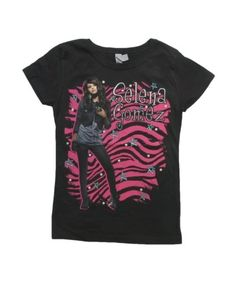 Wizards of Waverly Place, Selena Gomez Black Zebra Girl Tee $9.99