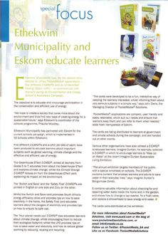 Education South Africa magazine - see what PocketMedia is doing in the education sector Public Relations, South Africa, Magazine, Education, Words, School, Fun, Fin Fun, Schools