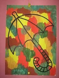 Výsledek obrázku pro výtvarná výchova deštník Autumn Crafts, Autumn Art, Autumn Trees, Art For Kids, Crafts For Kids, Arts And Crafts, Paper Crafts, Primary School Art, Elementary Art