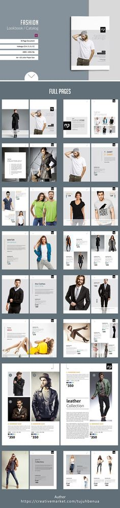 Fashion Lookbook / Catalog by tujuhbenua on @Graphicsauthor